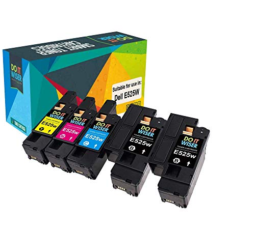 Do it wiser kompatible Toner als Ersatz für Dell E525w 593-BBLN 593-BBLL 593-BBLZ 593-BBLV (5er-Pack)