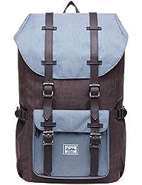 """KAUKKO Rucksack Damen Herren 17 Zoll für 15"""" Notebook Lässiger Daypacks Backpacks Schultaschen für Wandern Reisen Camping"""
