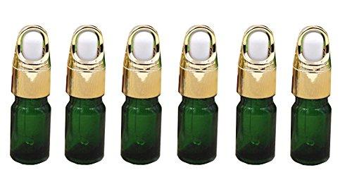 6 Stück5ml/10ml Dropper-Flaschen aus grünem Glas; mit Pipetten/Make-up-Proben Behälter-Flasche für den Öl-Aromatherapiegebrauch. - Ml 5 Ml Fläschchen