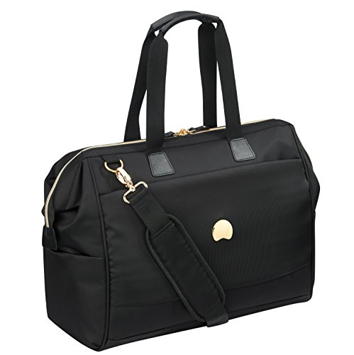 DELSEY Paris Montrouge  Reporter Weekender 48 Stunden Tasche, schwarz-gold, gepolstertes Laptop / Tablet Fach 15,6