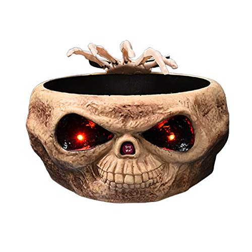 Skelton Maske - Halloween Candy Bowl, Dekoration mit Sound