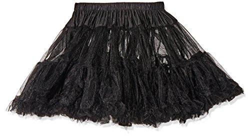 Leg Avenue 8990 - Petticoat Schwarz Kostüm Damen Karneval, Einheitsgröße (EUR 36-40) (Leg Schwarze Strumpfhose Eine)