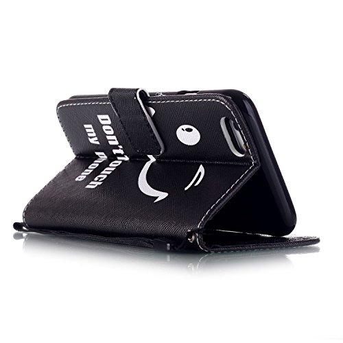 MOONCASE Étui pour iPhone 6 Plus / 6S Plus (5.5 inch) Printing Series Coque en Cuir Portefeuille Housse de Protection à rabat Case YB12 YB01 #0305