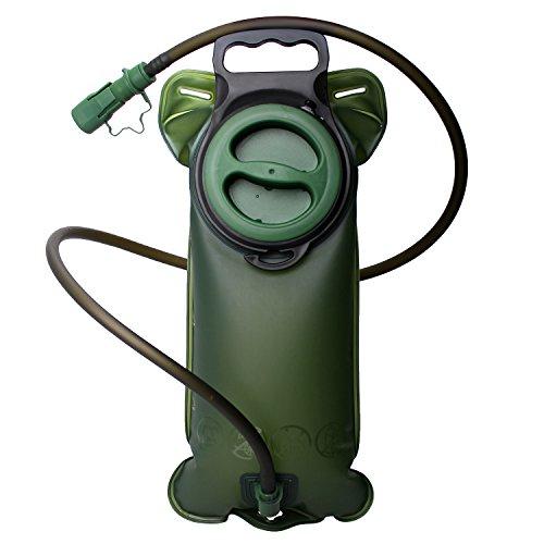 2L Bolsa de vejiga de hidratación BPA GRATIS, a prueba de fugas y durable Agua de deportes Vejiga de viaje para deportes Senderismo Acampar Escalada Senderismo Ciclismo Verde by StillCool