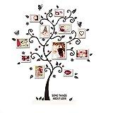 HALLOBO® Wandtattoo Fotobaum Wandaufkleber Baum Familienbaum Wandsticker Wall Sticker Wohnzimmer Schlafzimmer Deko