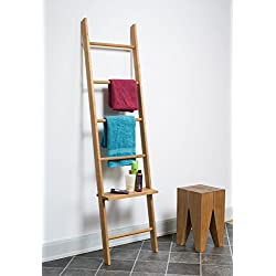 Kleiderleiter Porte-vêtements en chêne en forme d'échelle