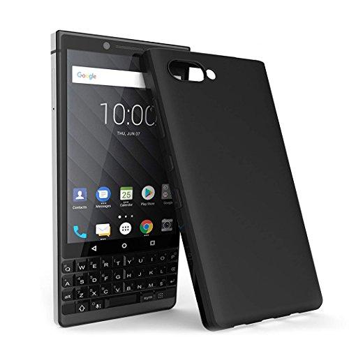 XEPTIO BlackBerry Key2 Hülle, Schutzhülle, Cover Black case TPU Schwarz Tasche - Zubehör Etui Cover BlackBerry Key 2 / Keyone 2 4G Dual SIM Smartphone 2018 Accessoires