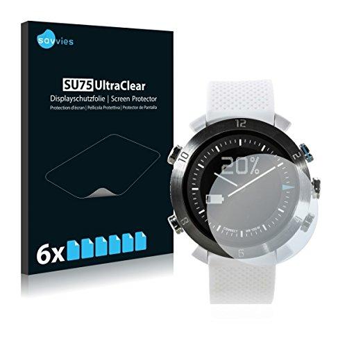 6x Savvies SU75 UltraClear Bildschirmschutz Schutzfolie für Cogito Classic (ultraklar, mühelosanzubringen)