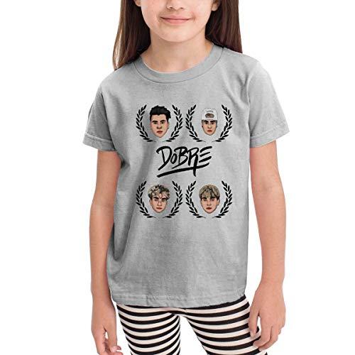 Kinder Jungen Mädchen Shirts Dobre Brothers T Shirt Kurzarm T-Shirt Für Kleinkind Jungen Mädchen Baumwolle Sommer Grau 5/6 T -