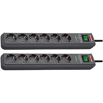 Brennenstuhl Eco-Line Steckdosenleiste mit Schalter 6-fach 1,5m Kabel