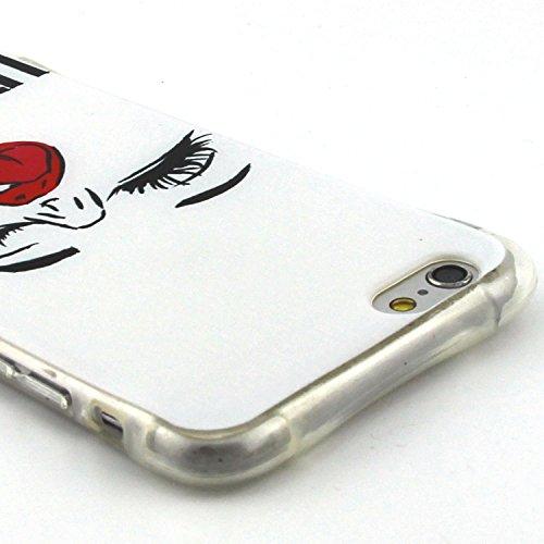 Etsue pour Apple iPhone 6 Plus/iPhone 6S Plus 5.5 Case Cover,Ultra-minces Rim est transparent Frais Doux TPU Coque Housse pour Apple iPhone 6 Plus/iPhone 6S Plus 5.5,Colorful Soft Silicone Case Etui s sexy fille
