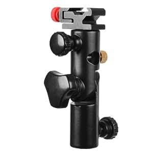 Walimex Support de flash et parapluie en métal (pour flashes compacts et parapluies réflecteurs et translucides)