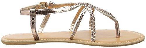 New Look Isabella, Sandali con Cinturino alla Caviglia Donna Oro (Rose Gold)