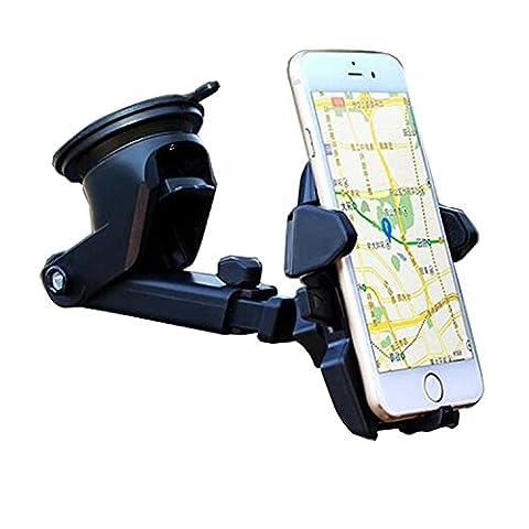 Maetek Car Phone Holder, Adjustable and Universal Dashboard Air Vent Car Mount Windshield Holder Cradle with Strong Sticky Gel Pad ventouse for Smartphone
