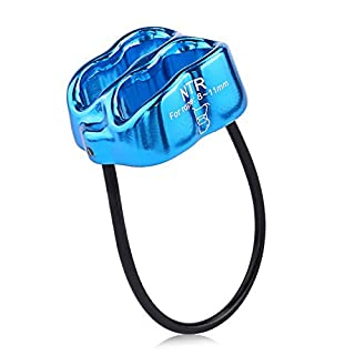 Oumers ATC Belay Rappel Device, Downhill Equipment for Outdoor Recreation Sport Mountaineering Training Rock Climbing Rappelling Equip