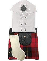 Wallace Tartán ropa de bebé ajustable de estilo celta, manguera, Sporran 0–24meses