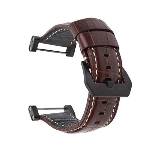 Sansee Uhrenarmbänder Leder Ersatzband Armband + Adapter und Werkzeuge für Suunto Core Watch (C) Garmin A/c Adapter