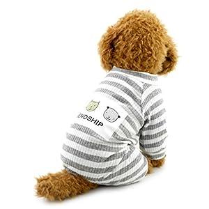 Smalllee _ Lucky _ Ranger Petit Chien à rayures tenues pour animal domestique Coton Pyjama Doggie JumpSuit Puppy Vêtements