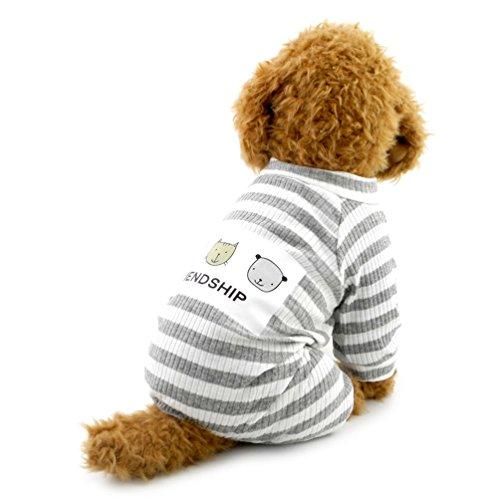 smalllee _ Opportune _ store Kleiner Hund Streifen Outfits Pet Baumwolle Schlafanzüge Hund Overall Puppy Kleidung