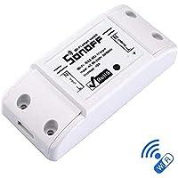 Blxecky Sonoff Basic R2 Interruptor Inteligente Universal con Mando a Distancia WiFi y Temporizador para Hacer uno Mismo a través de iOS Android 10 A/2200 W, Blanco… (1 Pack)