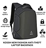 #10: Kossh Anti Theft, Waterproof Casual Backpack with USB Charging Point - Fashion Bag for 16 inch Laptop, 30 Ltrs - Black