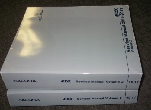 2010-2011-acura-mdx-service-repair-shop-manual-set-factory-dealership-books-oem-2-volume-set