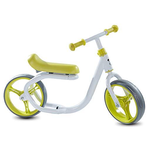 YUMEIGE Biciclette Senza Pedali Bici Senza Pedali Telaio in Acciaio, Prima Bicicletta Ruota Completamente Chiusa,  Bicicletta Senza Pedali per  Pad allargamento e allungamento (Color : Yellow)