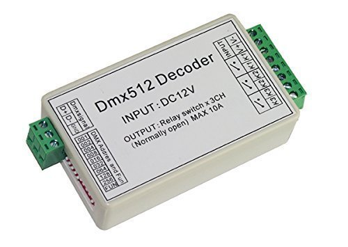 3 CHANNEL 5A DMX512 DECODER CONTROLLER RELAY SWITCH KIT DIY CONVERTER DMX DIMMER RELAY WITH PROTECTIVE SHELL