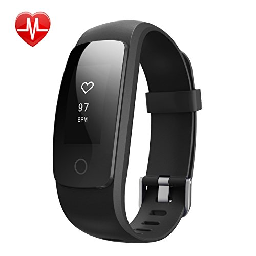 Activity Tracker IP67, Mpow Fitness Tracker Cardio Cardiofrequenzimetro da Polso Smartwatch Android IP67 Impermeabile, Bracciale Bluetooth Fitness per Outdoor Corsa e Ciclismo, Bracciale Smart Watch, Contapassi, Cardiofrequenzimetro hr, Calorie Counter, Smart tracker, Sleep Tracker, Fit Watch per iOS Android, Nero