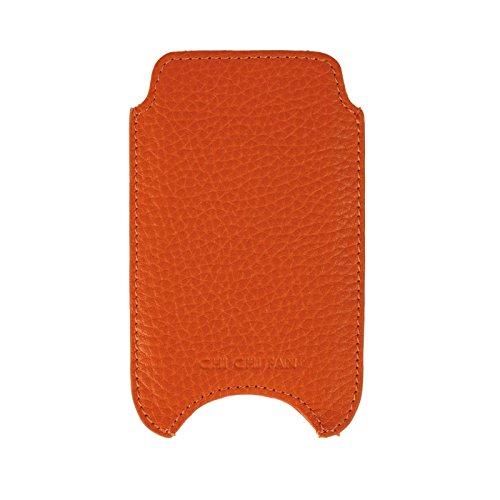 CHI CHI FAN IPhone 6 Hülle - Orange | Smartphone Hülle aus echtem Leder | Top Qualität und Design treffen auf maximale Funktion und Sicherheit für ihr IPhone | Schutz vor Kratzern, Schmutz und Staub Orange Case Fan