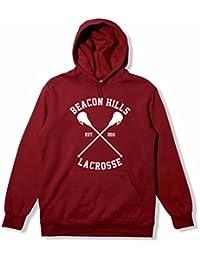 MyShirtBeacon Hills - Sudadera con capucha, diseño inspirado en la serie Teen Wolf, Dylan O 'Brien Stiles, disponible en tallas XS-XXL, color granate