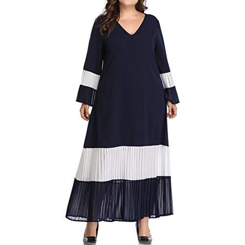 Plus Size Wikinger Krieger Kostüm - Vimoli Kleid Dame Plus Size V-Ausschnitt