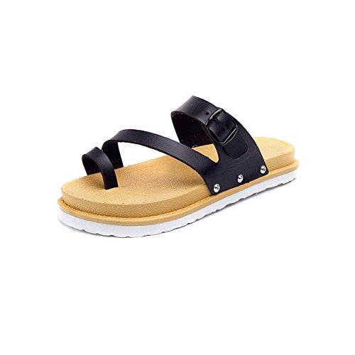 Sommer wort wölbung normallack sandalen/Flat mit der außenseite, um pantoffeln zu tragen B
