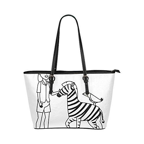 Coach Leder-reiniger (Zebra Cartoon Wald Tier Große Leder Tragbare Top Griff Hand Totes Taschen Kausal Handtaschen Reißverschluss Schulter Einkaufstasche Geldbörse Organizer Für Dame Mädchen Frauen)