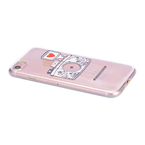 "Coque iPhone 7 Plus, Sunroyal iPhone 7 Plus 5.5"" Silicone Coque de Protection Transparente TPU Gel Souple Etui Housse Anti-choc Shock-Absorption Bumper Case Cover Premium Ultra-Mince Motif Impression  Motif 06"