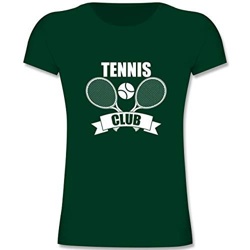 Sport Kind - Tennis Club Banner - 164 (14-15 Jahre) - Tannengrün - F131K - Mädchen Kinder T-Shirt