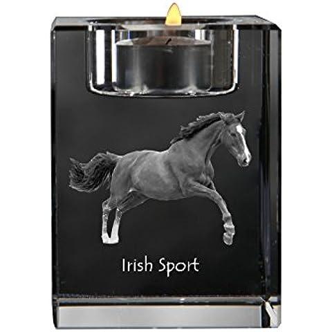 Deporte irlandés, Cristal candelero, titular de la vela con el caballo, recuerdo, de edición limitada