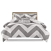 (grey, twin/twinxl) - Home Essence Apartment Leo Ultra Soft Reversible Duvet Cover Set
