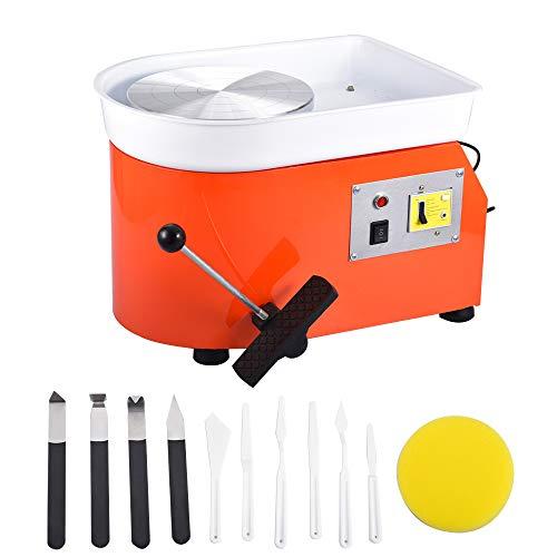 InLoveArts 25CM Töpferscheibe Maschine 350W Pottery Wheel Keramik Clay Maschine töpferscheibe fußantrieb mit Waschbecken