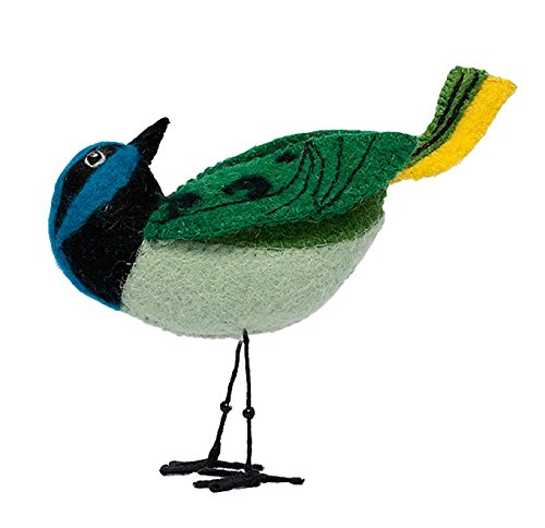 crate-and-barrel-green-jay-felted-bird