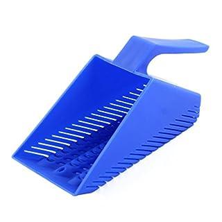 sourcingmap® Plastic Aquarium Fish Tank Gravel Scraper Cleaning Pan Scoop Sand Shovel Spade Blue
