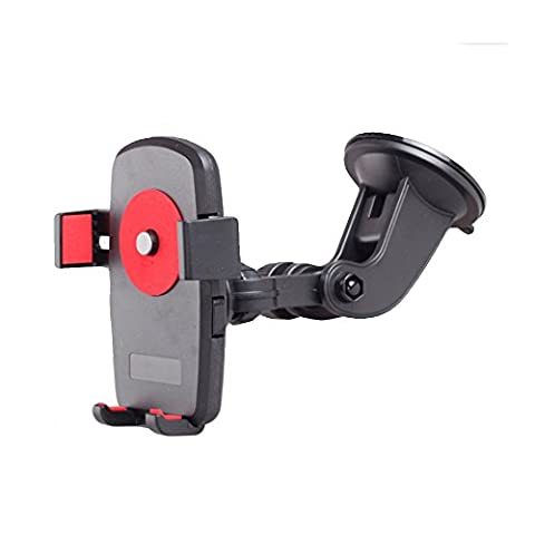 Mehios Mobile Phone Car Mount Bracket Holder Stand 360 Degrees Rotation Universal Cars Windshield Long Arm Smartphone Cars Holder