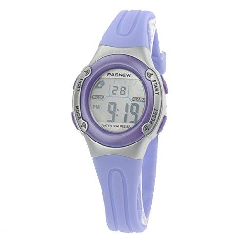 WINOMO PASNEW PSE-226 wasserdichte Kinder jungen Mädchen LED Digital Sport Uhr mit Datum /Alarm Stoppuhr (Licht Lila)