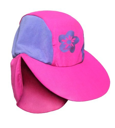 Boys Size L Pink/purple Sun Uv Protective Beach Safari Swim Hat for Kids Age 7-10 Years Old