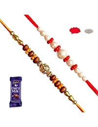 Maalpani Rakhi Chocolate Gift Hamper for Rakshabandhan Brother, Sister, Love Multicolor Small (Set 1)