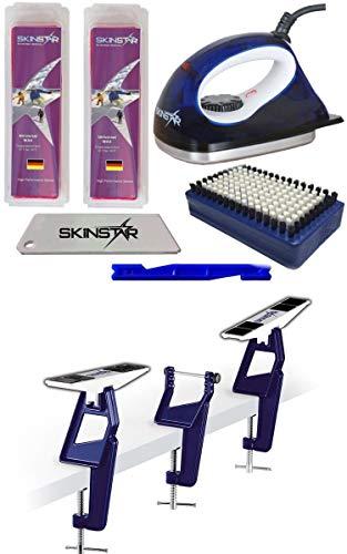 SkinStar Skispanner Profi Langlauf LL Skiwachs-Set Wachsbügeleisen Skihalterung 7-teilig