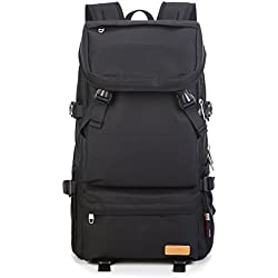 MUFUBU Presents Travel Backpack for Men for Hiking and Travelling with Water Resistant Property by Kaka - Black