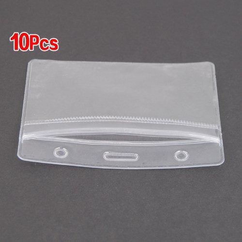 TOOGOO(R) 10 x Clair Vertical ID Badge Plastique Poche Porte Pochettes 98 x 86mm