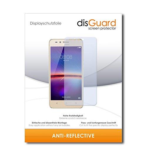 disGuard® Bildschirmschutzfolie [Anti-Reflex] kompatibel mit Huawei Y3 II [2 Stück] Entspiegelnd, Matt, Antireflektierend, Extrem Kratzfest, Anti-Fingerabdruck - Panzerglas Folie, Schutzfolie