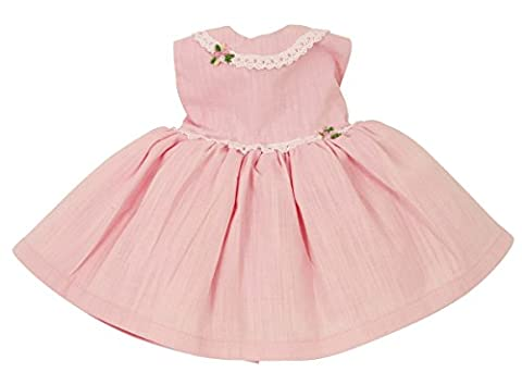 FRILLY LILY PINK PARTY DRESS FOR DOLLS 14-18 INS 35-45 CM[DOLL NOT INCLUDED]To fit dolls such as American Girl,Baby Born,Hannah by Gotz,Design a Friend DolL,Kidz and Cats,Precious Day Doll,Happy Kidz and many more dolls of this